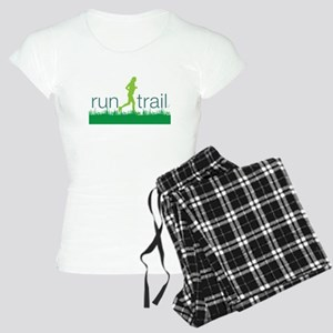Run Trail Green Women's Light Pajamas