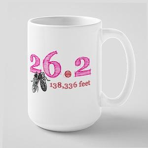 26.2 Mile Pink Large Mug
