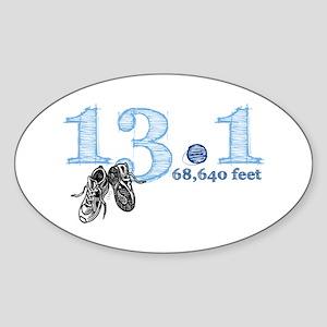 13.1 Half Marathon Blue Sticker (Oval)