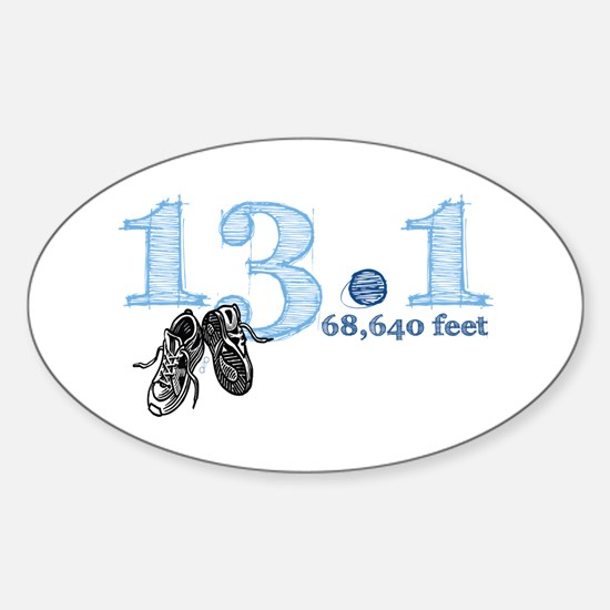 13.1 Half Marathon Blue Sticker (Oval)