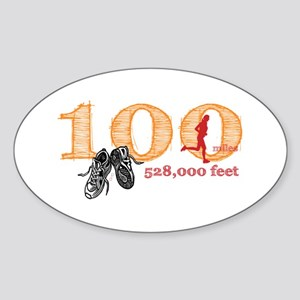 100 Mile Ultra Marathon Ladies Sticker (Oval)