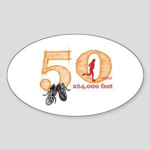 50 Mile Ultra Marathon Ladies Sticker (Oval)