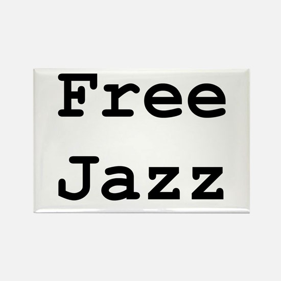 Free Jazz Rectangle Magnet
