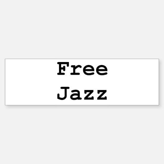 Free Jazz Sticker (Bumper)