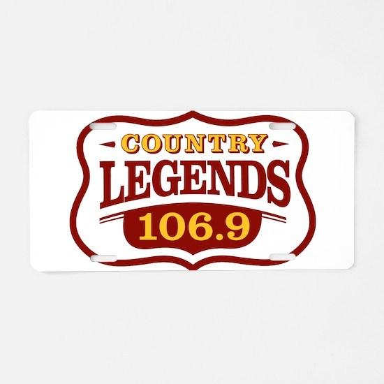 Unique Legends Aluminum License Plate