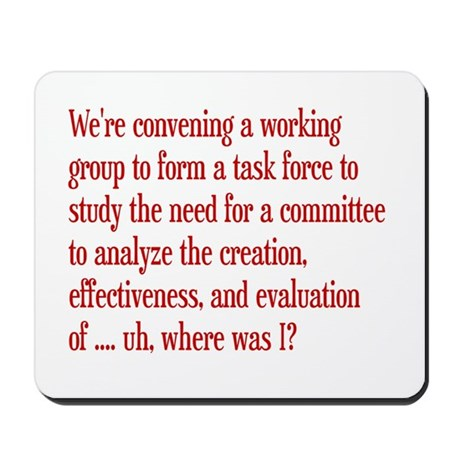 Working Group Committee Mousepad