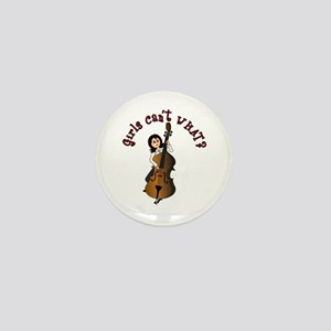 String Upright Double Bass Guitar Mini Button