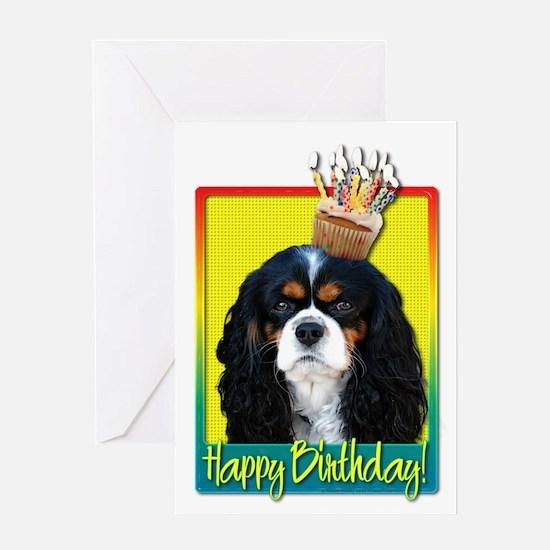 Birthday Cupcake - Cavalier Greeting Card