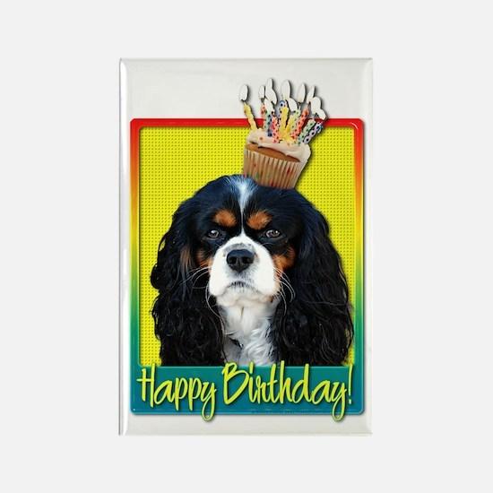 Birthday Cupcake - Cavalier Rectangle Magnet