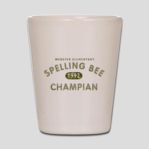 Spelling Bee Champian Shot Glass