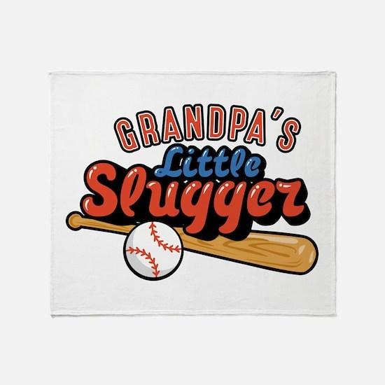Grandpa's Little Slugger Throw Blanket