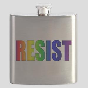Rainbow Resist Trump Flask