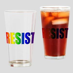 Rainbow Resist Trump Drinking Glass