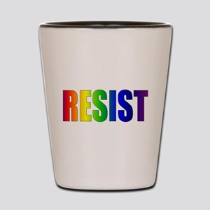Rainbow Resist Trump Shot Glass
