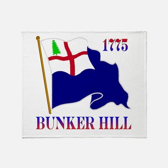 Battle of Bunker Hill Throw Blanket