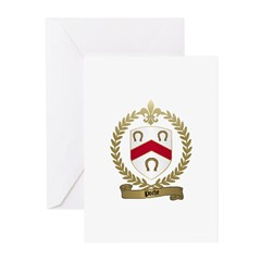 POCHE Family Crest Greeting Cards (Pk of 10)