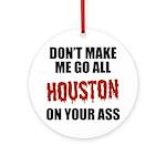 Houston Baseball Ornament (Round)