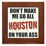 Houston Baseball Framed Tile