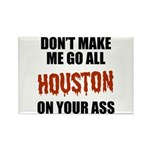 Houston Baseball Rectangle Magnet