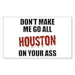 Houston Baseball Sticker (Rectangle)