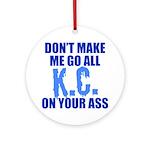 Kansas City Baseball Ornament (Round)