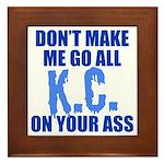 Kansas City Baseball Framed Tile
