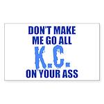 Kansas City Baseball Sticker (Rectangle)