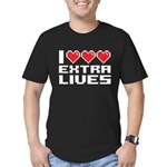 I Heart Extra Lifes Men's Fitted T-Shirt (dark)