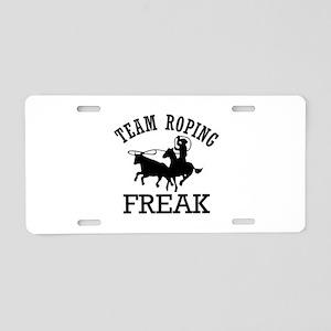 Team Roping Freak Aluminum License Plate