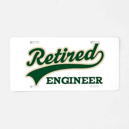 Retired Engineer Gift Aluminum License Plate