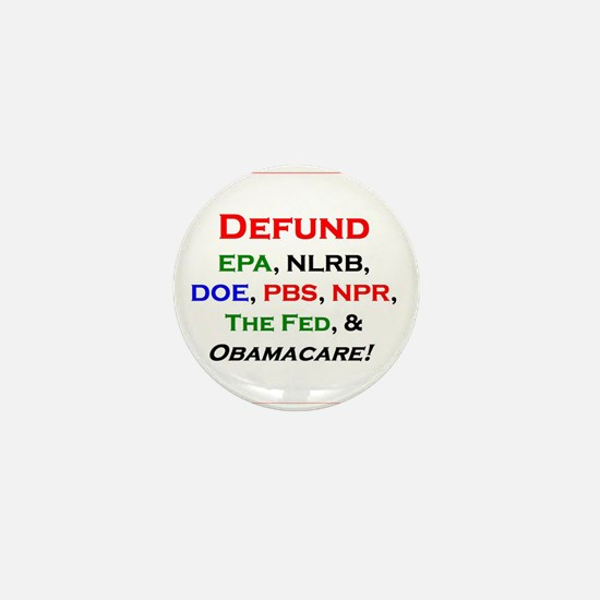 Defund ObamaCare etc. - Mini Button
