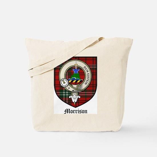 Morrison Clan Crest Tartan Tote Bag