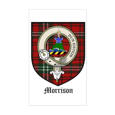 Morrison Clan Crest Tartan Rectangle Sticker