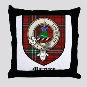 Morrison Clan Crest Tartan Throw Pillow
