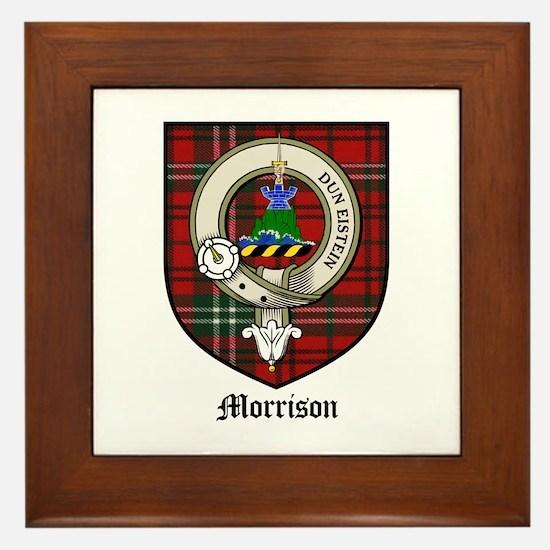 Morrison Clan Crest Tartan Framed Tile