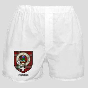 Morrison Clan Crest Tartan Boxer Shorts
