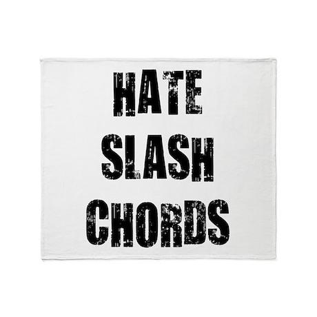 Hate Slash Chords Throw Blanket