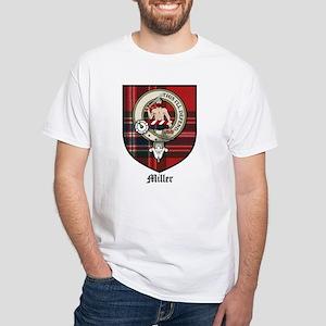 Miller Clan Crest Tartan White T-Shirt