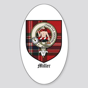 Miller Clan Crest Tartan Oval Sticker