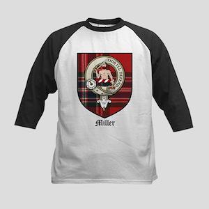 Miller Clan Crest Tartan Kids Baseball Jersey