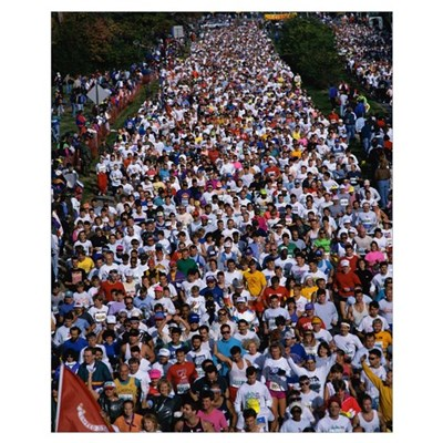 Runners in the 17th Marine Corps Marathon Framed Print