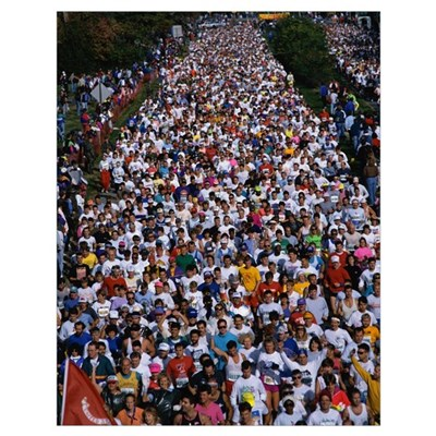 Runners in the 17th Marine Corps Marathon Poster