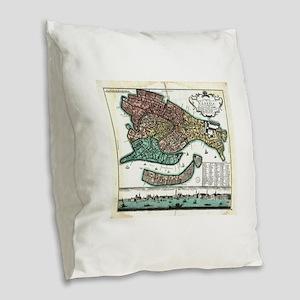 Vintage Map of Venice Italy (1 Burlap Throw Pillow