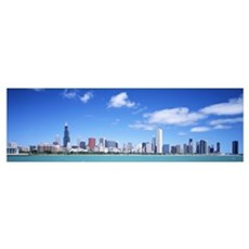 US, Illinois, Chicago, skyline Poster