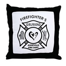 FF Girlfriends Asheville FD Throw Pillow
