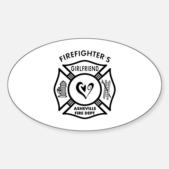 FF Girlfriends Asheville FD Sticker (Oval)