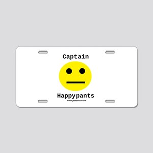 Captain Happypants - Aluminum License Plate