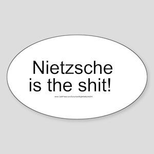 """Nietzsche Shit"" Sticker (Oval)"