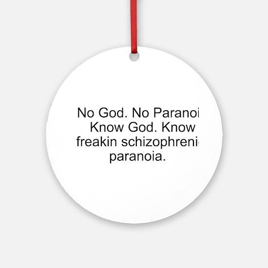"""No God"" Ornament (Round)"