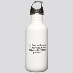 """""""No God"""" Stainless Water Bottle 1.0L"""